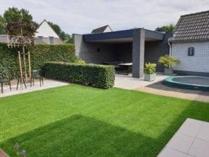 Een moderne achtertuin